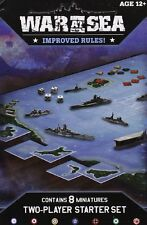 AXIS & ALLIES WAR AT SEA 2 PLAYER NAVAL MINIATURES GAME STARTER SET