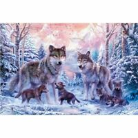 5D DIY full drill Diamond Painting Embroidery Wolf family Cross Stitch Diam S1G7
