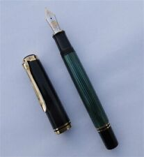 PELIKAN 800, BLACK/GREEN, FOUNTAIN PEN, W.-GERMANY, RARE