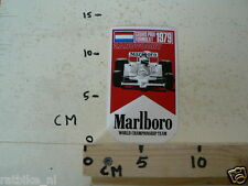 STICKER,DECAL MARLBORO 1979 GRAND PRIX FORMULA 1 ZANDVOORT