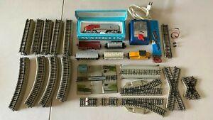 MÄRKLIN HO Scale Train Set Lot w/ transformer, 2 locos, 4 cars, varied track