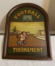 Vintage 3-D Soccer Wall Plaque ~Football Tournament~ Bears Playing Soccer *Rare*