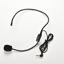 1m Mini 3.5mm Clip Stereo Mikrofon Microphone for Car DVD BT PC Laptop   ZD