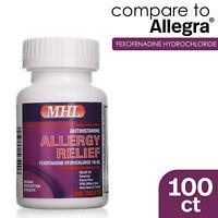 Allergy Relief | Fexofenadine HCl 180 mg | Non-Drowsy Antihistamine | 100 Count
