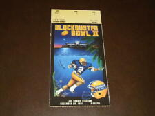 1991 BLOCKBUSTER BOWL FOOTBALL TICKET STUB ALABAMA VS COLORADO NR MINT