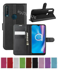 Leather slot wallet stand flip Cover Skin Case For Alcatel 1S/1B/3L (2020)