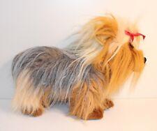 SIGIKID YORKSHIRE TERRIER braun stehend Metall-Plakette Plüschtier Hund 36 cm