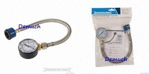 Silverline MAINS WATER PRESSURE TEST GAUGE Plumbing Tester 0-11bar (0-160psi) ✔