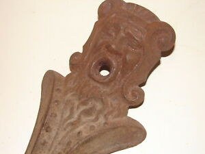 Antique Cast-Iron Gargoyle-like Victorian Jester's Face Bathtub Leg