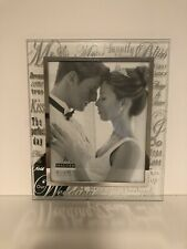 Malden Mirrored Glass Wedding Picture Frame Mr. and Mrs. 8 by 10-Inch