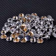 25x 15mm Silver Marine Boat Canvas Canopies Snap Studs Cap Fastener Screw Cover