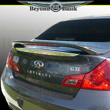 Fits 2007-2013 Infiniti G25 G35 G37 4DR Factory Style Spoiler W/LED UNPAINTED