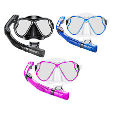 New listing Dry Snorkel Gear Scuba Diving Snorkeling Supplies Panoramic Dive Mask Set