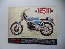 advertising Pubblicità 1975 MOTO TESTI CORSA 2000 125/5
