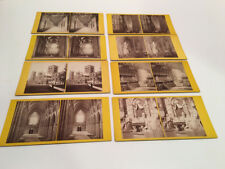 8 G.W.Wilson Eng Stereoview Lot Westminster Abbey Durham Cath Etc Abbie S. Weld