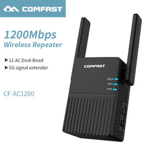 1200Mbps Wireless WiFi Repeater Booster Signal Router Extender,Amplifier 2.4G/5G
