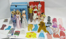 Vintage Mattel Barbie Midge,Ken,Skipper Set with Lot of Rare Outfits