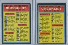 1962 Topps Both Checklists 76 and 176 Heavy Marks
