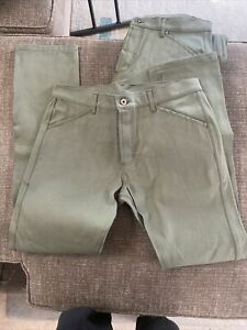 Taylor stitch the camp olive drab selvage pants 36/35 (new)sample