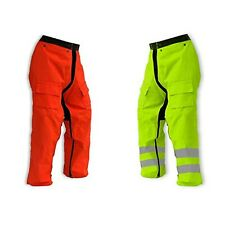 "Forester Chainsaw Safety Chaps - Full Wrap Zipper - Orange (Long (40"") Fits M..."