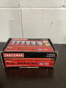 "NEW CRAFTSMAN USA MADE 6 PC 3/4"" DR 12 POINT METRIC SOCKET SET #46306 32-42 MM"