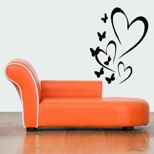 Wall Vinyl Sticker Decals Mural Design Art Cute Hearts Romance Butterflies #824
