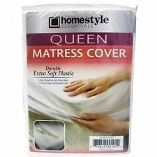 Queen Size Fitted Mattress Cover Vinyl Waterproof  Allergy Protector