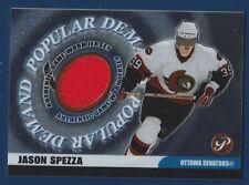 JASON SPEZZA 03-04 TOPPS PRISTINE 2003-04 POPULAR DEMAND GAME WORN JERSEY  16166