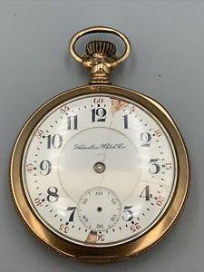 Antique Hamilton Watch Co 21 Jewel Pocket Watch Serial 242744 Not Working