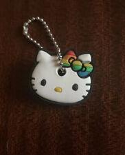 RARE LIMITED Sanrio Hello Kitty LGBT Rainbow Stripes Pride Key Chain Cap Cover