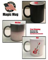 Magic Rock Star Coffee Mug, Coffee Cup mug Heat Color Changing Cup Gift