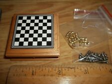 MINIATURE CHESS BOARD WITH DRAWER AND CHESS PIECES - DOLL HOUSE MINI