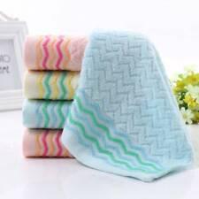 Unisex Soft Cotton Bath Towel Beach Home Textile Colorful Stripe Washcloths