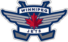 "Winnipeg Jets NHL Hockey Bumper sticker, window wall decor, vinyl decal, 5""x 3"""