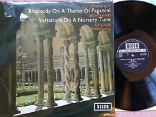 SXL 2176 - Rachmaninov - Rhapsody on a Theme of Paganini - Sir Adrian Boult NM