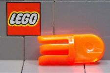 LEGO: Arm Piece Turned with 2 and 3 Fingers (#412) Tr.Orange **Five per Lot**