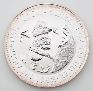 1993 Australian Kookaburra 1 oz. 999 Silver BU Coin Queen Elizabeth II