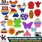 Push Pop Bubble It Silicone Autism Stress Relief Game Sensory Fidget Special Toy