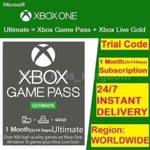 Xbox Live 1 Month Gold & Game Pass Ultimate Code (2x 14 Day) - FAST DELIVERY