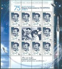 Russia, Space, Y.Gagarin, 2016,overprinted sheet surcharge