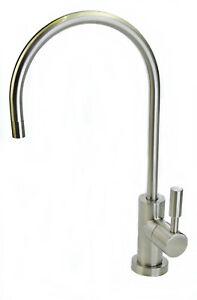 Luxury Water Filter Tap Faucet with Brushed Nickel Finish for Drinking Water, RO