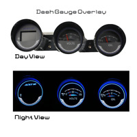 ADD W1 Gauge Overlay for Nissan 350Z Manual Cluster white face white gauge