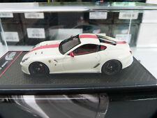 1 43 BBR C35AW Ferrari 599 GTO 2010 white w/ red stripe limited ex. no 8/59