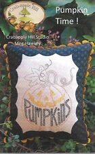 Crabapple Hill Embroidery  'PUMPKIN TIME!' Halloween Fall Embroidery Pillow