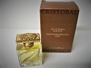 Cristobal Balenciaga Pour Elle Vintage Eau de Toilette Miniature in Box !