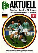 Länderspiel 27.04.1988 Deutschland - Schweiz in Kaiserslautern