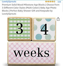 Premium Solid Wood Milestone Age Blocks | Choose from 3 Different Color Styles |
