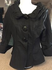 Song & Sung Design Today's Jacket Coat Blazer Double Collar Black Size Small