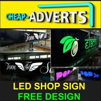 FRONT SHOP SIGN TRAY WITH LED - 110cm x 70cm - GREAT QUALITY + FREE DESIGN