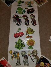 """Plants Vs. Zombies 2 Promotional Sticker Sheet Poster - 12"""" x 30"""" Official Rare"""